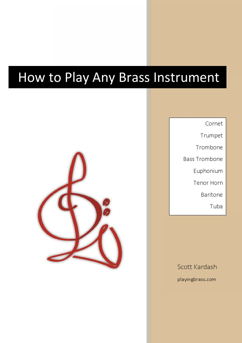 How to Play Any Brass Instrument Cover Page how to play any brass instrument hardcopy book playing brass